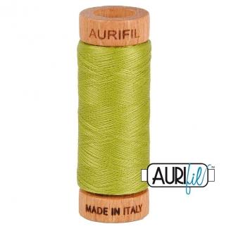 Fil de coton Mako 80 Aurifil - Vert anis 1147