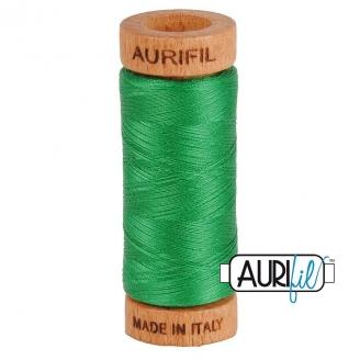 Fil de coton Mako 80 Aurifil - Vert malachite 2870