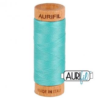 Fil de coton Mako 80 Aurifil - Bleu Lagon 1148