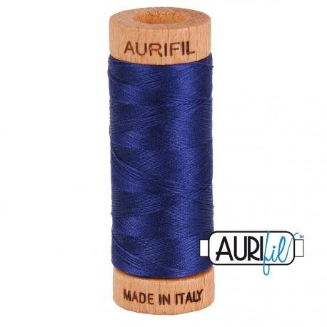 Fil de coton Mako 80 Aurifil - Bleu Nuit 2745