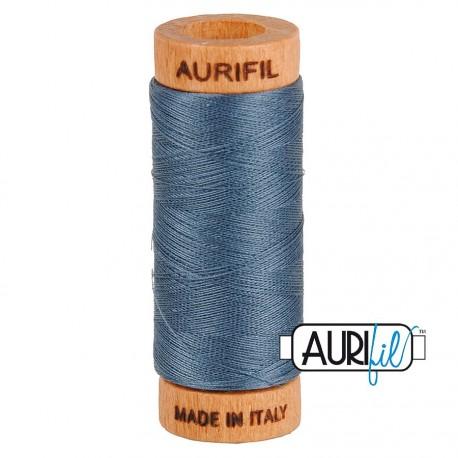 Fil de coton Mako 80 Aurifil - Gris métal 1158
