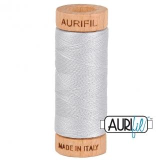 Fil de coton Mako 80 Aurifil - Gris Perle 2600