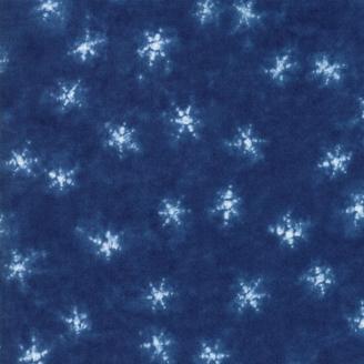 Tissu patchwork étoiles bleu indigo - Yuki de Moda
