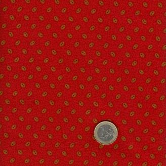 Tissu patchwork petit imprimé rouge - New Hope de Jo Morton