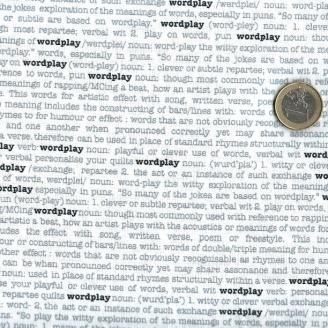 Tissu patchwork écritures d'imprimerie Wordplay