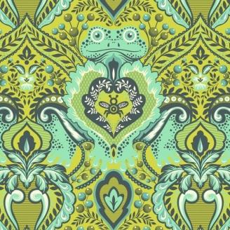 Tissu patchwork Tula Pink Prince des grenouille vert Myrtle - All Stars