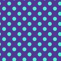 Tissu patchwork Tula Pink pois lagon fond indigo Iris - All Stars