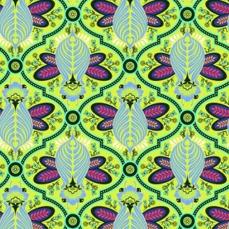 Tissu patchwork Tula Pink abeilles fond vert Agave - All Stars