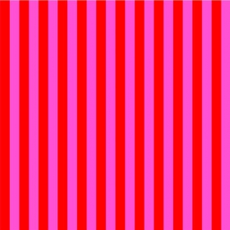 Tissu patchwork Tula Pink rayures fuchsia et rouge Pivoine - All Stars
