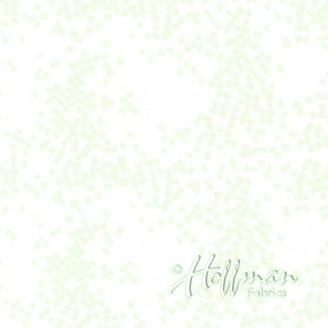 Tissu batik carrés en pagaille écru ton sur-ton