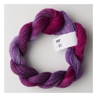 Perlé 8 Stef Francis dégradé violet fuchsia 37