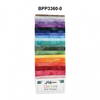 Bandes de tissus batiks Bali Poppy - Ombre