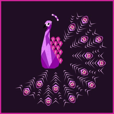 The Peacock Abstractions (La Roue du Paon) - Modèle de patchwork piécé main
