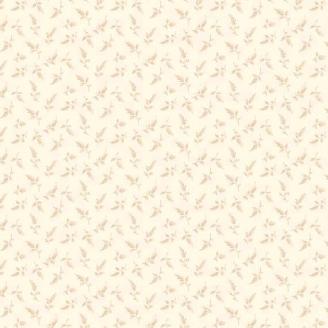 Tissu pacthwork petites fougères beiges fond écru - Something Blue d'Edyta Sitar