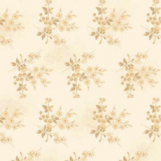 Tissu pacthwork fleurs et baies fond écru - Something Blue d'Edyta Sitar