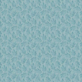 Tissu pacthwork branchages rayés bleus - Something Blue d'Edyta Sitar