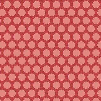 Tissu patchwork pois roses fond rouge - Little Sweetheart d'Edyta Sitar
