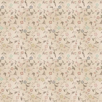 Tissu pacthwork volutes fleuries fond crème - Dream de Makower