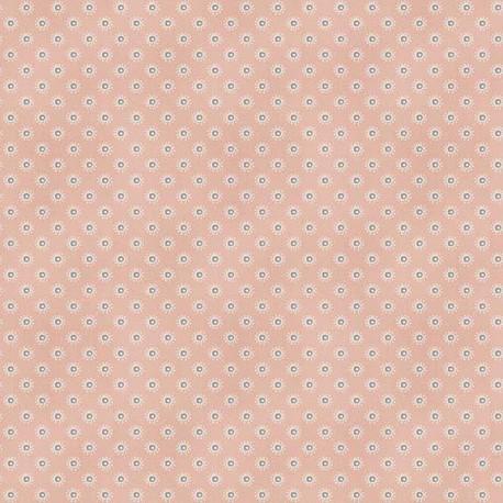 Tissu patchwork pois fantaisie fond rose - Dream de Makower