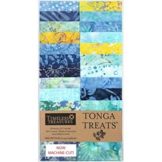 Bandes de tissus batiks Tonga Treats - Turquoise Angelfish
