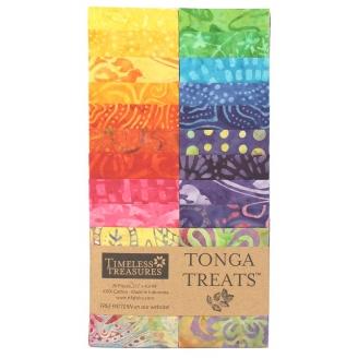 Bandes de tissus batiks Tonga Treats - Multicolore Rio