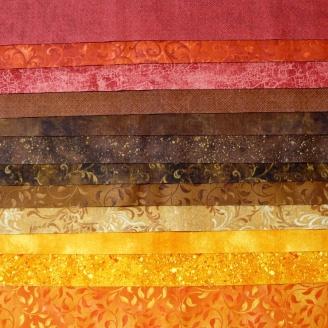 Jelly Roll de tissus basiques couleurs d'Automne - Falling for You Essential Gems