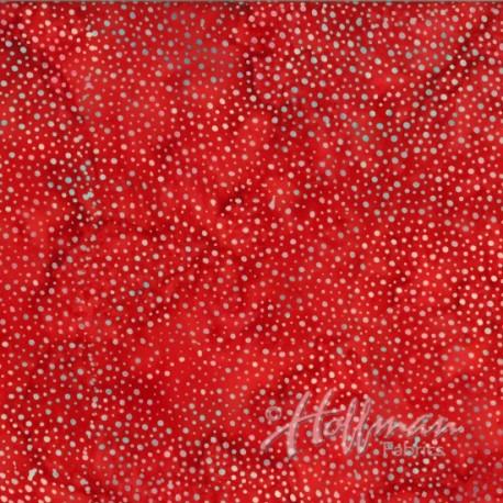 Tissu Batik rouge coquelicot pétillant