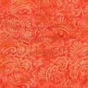 Tissu Batik flore orange
