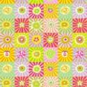 Tissu Kaffe Fassett Sunburst jaune vert rose GP162