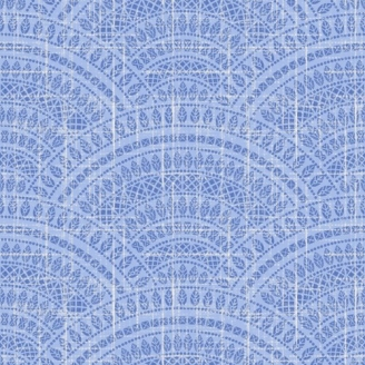 Tissu patchwork coquilles bleues - Moody Blue