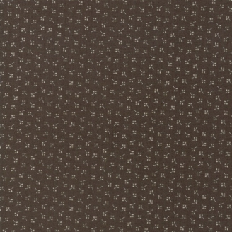 Tissu patchwork fleurette écrue fond gris - Jo's Shirtings de Moda