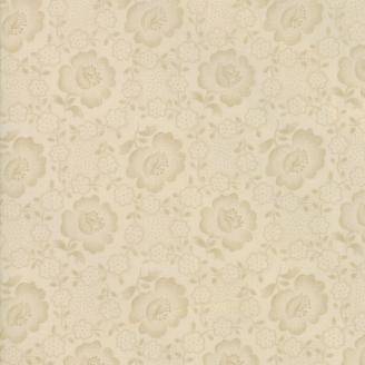 Tissu patchwork fleur écrue ton-sur-ton - Jo's Shirtings de Moda