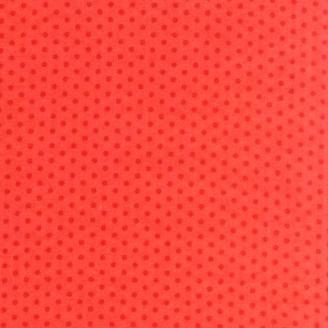 Tissu patchwork petits pois rouges ton-sur-ton