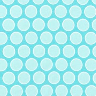 Tissu patchwork pois turquoise ton-sur-ton