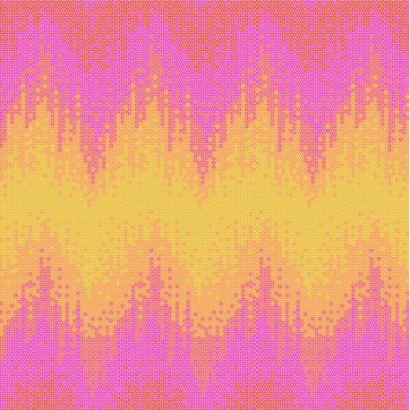 Tissu Tula marée haute rose orange Glow - Zuma