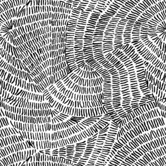 Tissu patchwork traits noirs fond blanc - Ombre Stitches