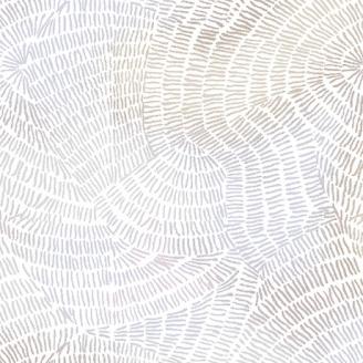 Tissu patchwork traits gris clair fond blanc - Ombre Stitches