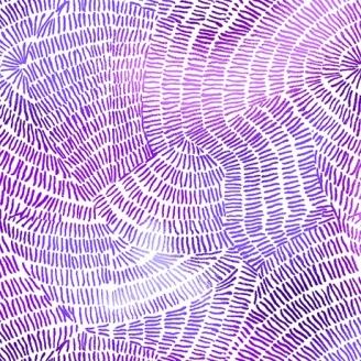 Tissu patchwork traits violets fond blanc - Ombre Stitches