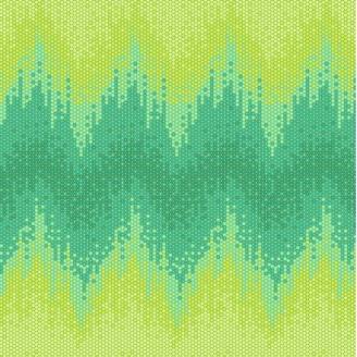 Tissu Tula Pink marée haute verte Seaglass - Zuma