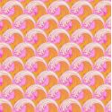 Tissu Tula Pink vagues oranges et roses Glow- Zuma