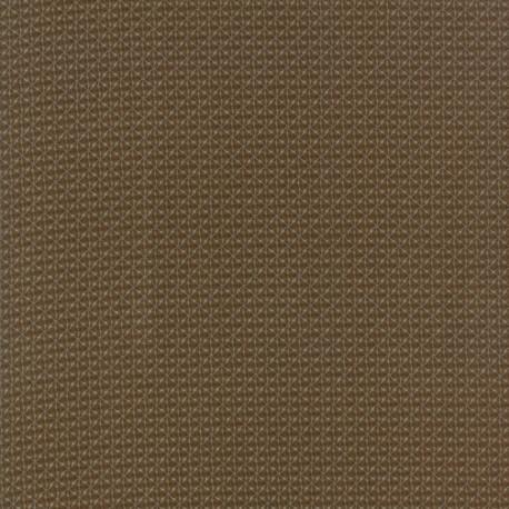 Tissu patchwork carreaux fins bruns - Heritage d'Howard Marcus
