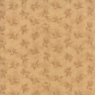 Tissu patchwork branche fleurie fond crème - Heritage d'Howard Marcus