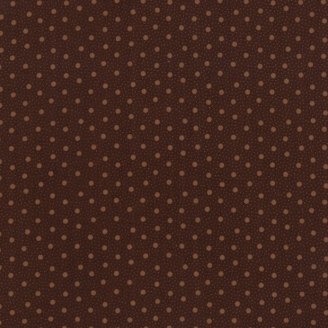 Tissu patchwork pois fond chocolat - Spice it up de Jo Morton