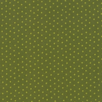 Tissu patchwork pois fond vert olive - Spice it up de Jo Morton