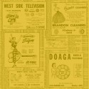 Tissu imprimé Annuaire vintage jaune - Ring Ring