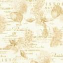 Tissu patchwork herbier fond écru