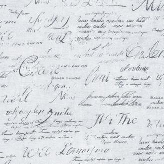 Tissu patchwork écritures manuscrites fond gris clair