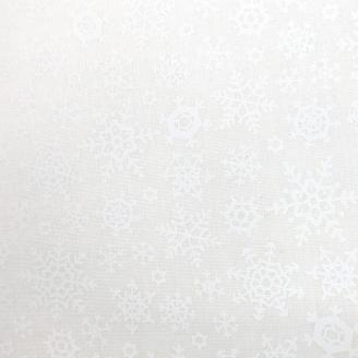 Tissu patchwork flocons de neige blancs fond écru - Once Upon a Memory de Moda