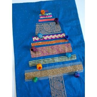Sapin aux rubans - kit art textile