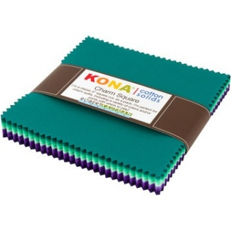 Charm pack de tissus unis Kona - Aurore